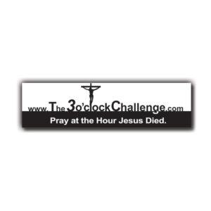the-three-o-clock-challenge-bumper-sticker-2
